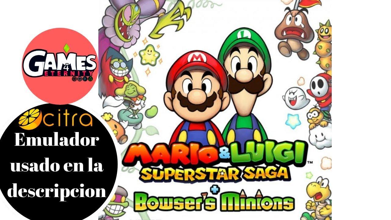 Citra Mario y Luigi superstar saga + Bowser 60fps | Emulacion perfecta|  Descarga descripcion