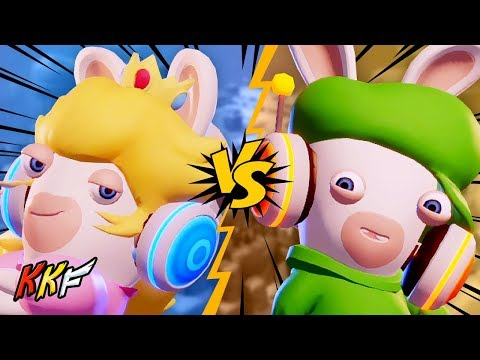 Versus Mode: Trampoline Alley (2 Player) - Mario + Rabbids Kingdom Battle