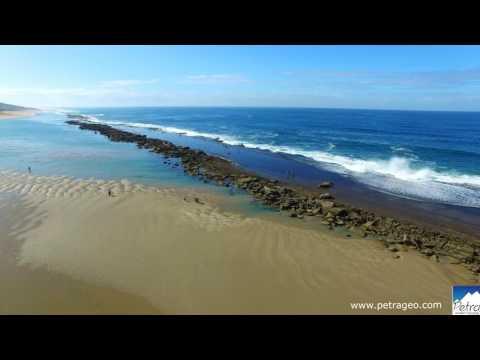 Mozambique aerial views of Gaza (Bilene, Xai Xai, Chibuto, Manjacaze, Chindenguele)