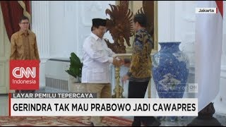 Gerindra Tak Mau Prabowo Jadi Cawapres Jokowi