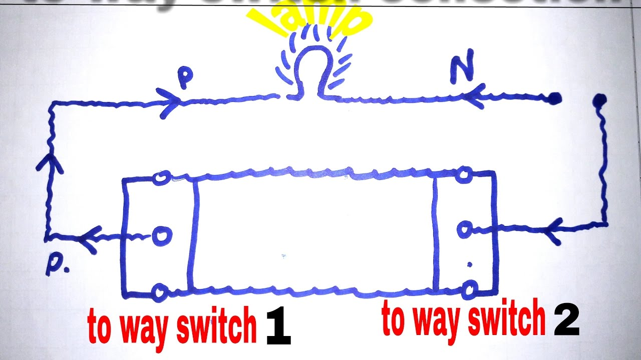 Two way switch conection in hindiTIT ELECTRICIAN YouTube