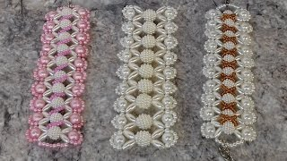 Como fazer: 3×1 – pulseira de pérola e arrozinho – Adriana Valério