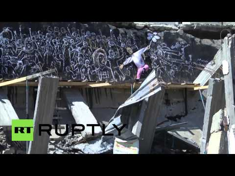 State of Palestine: Gazan artists turn conflict-ravaged buildings into art in al-Nakba commemoration