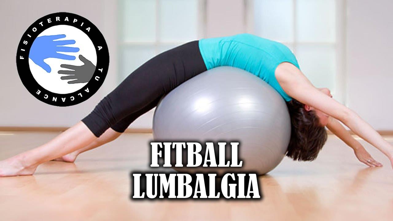 Ejercicios con fitball o pelota de pilates para aliviar la lumbalgia o  lumbago 6ec9f0266e4f