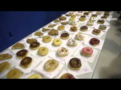 Union Canal elementary School had 425 Dads  with their children for donuts this morning, the annual