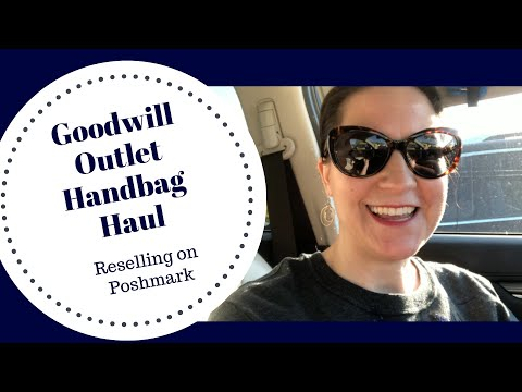 Goodwill Outlet Haul | Handbag Edition | Reselling on Poshmark for Profit | Thrifting Handbags