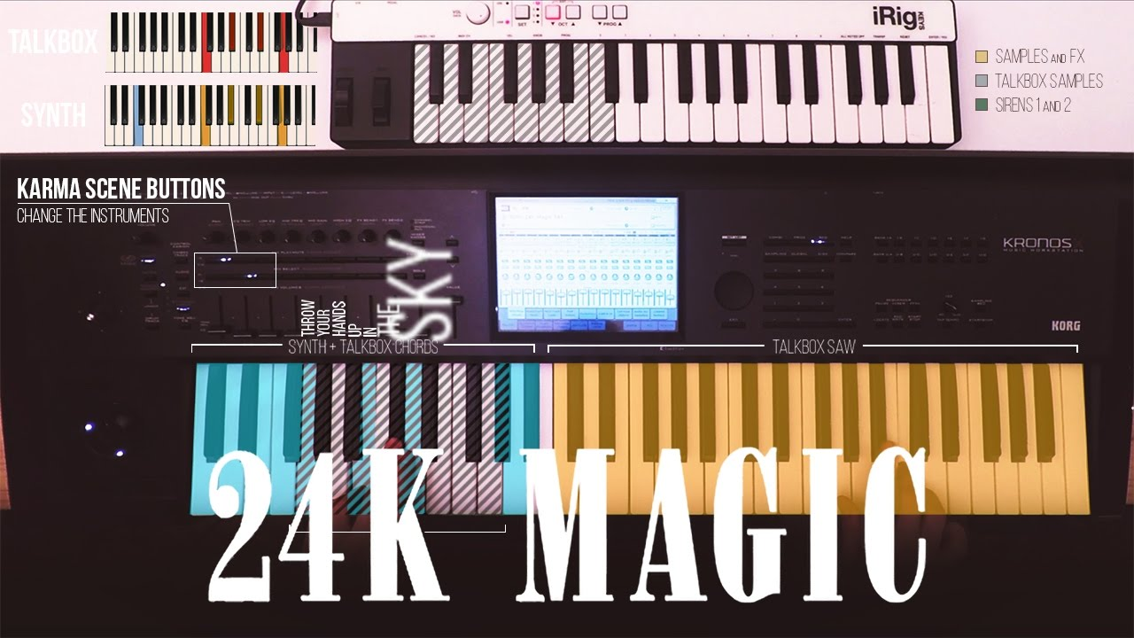 24k Magic by Bruno Mars on Korg Kronos - Kronoshaven