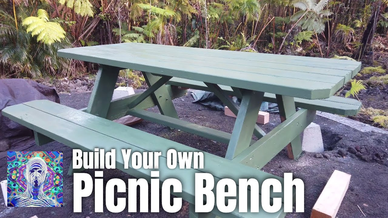 How To Build A Picnic Bench At Home Depot Youtube