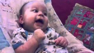 three months baby laughing (elian ariel)