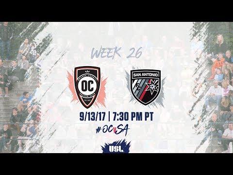 USL LIVE - Orange County SC vs San Antonio FC 9/13/17