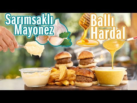 Ballı Hardal ve Sarımsaklı Mayonez Sosun Evde Kolay Yapım Tarifi