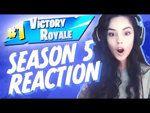 Fortnite Season 5 Reaction & 1st Solo/Duo Season 5 Win! - Valkyrae Stream Highlights