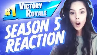 Fortnite Season 5 Reaction & 1st Solo/Duo Season 5 Win! - Valkyrae Stream Highlights