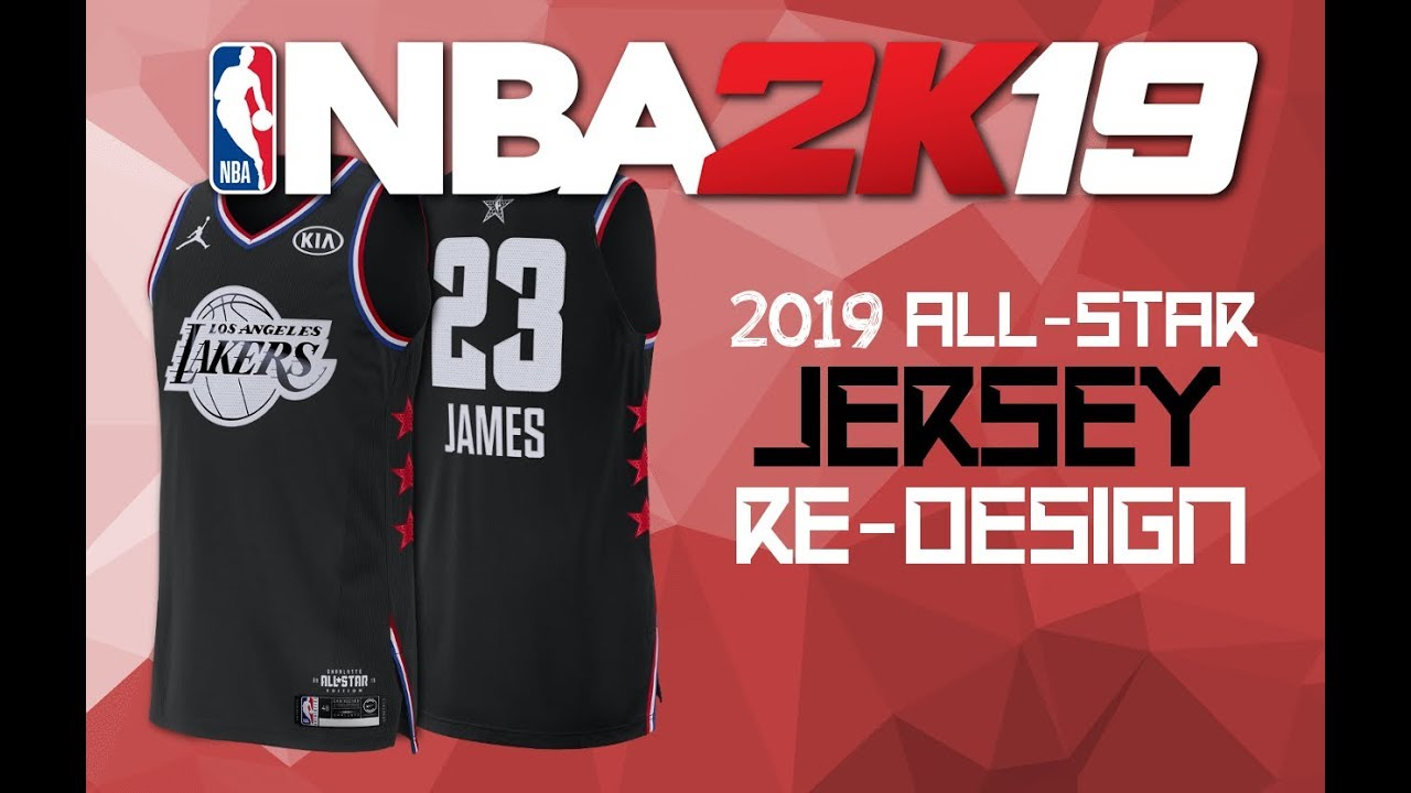 sports shoes 66874 a56c8 NBA 2k19 - 2019 ALL STAR JERSEY REDESIGN