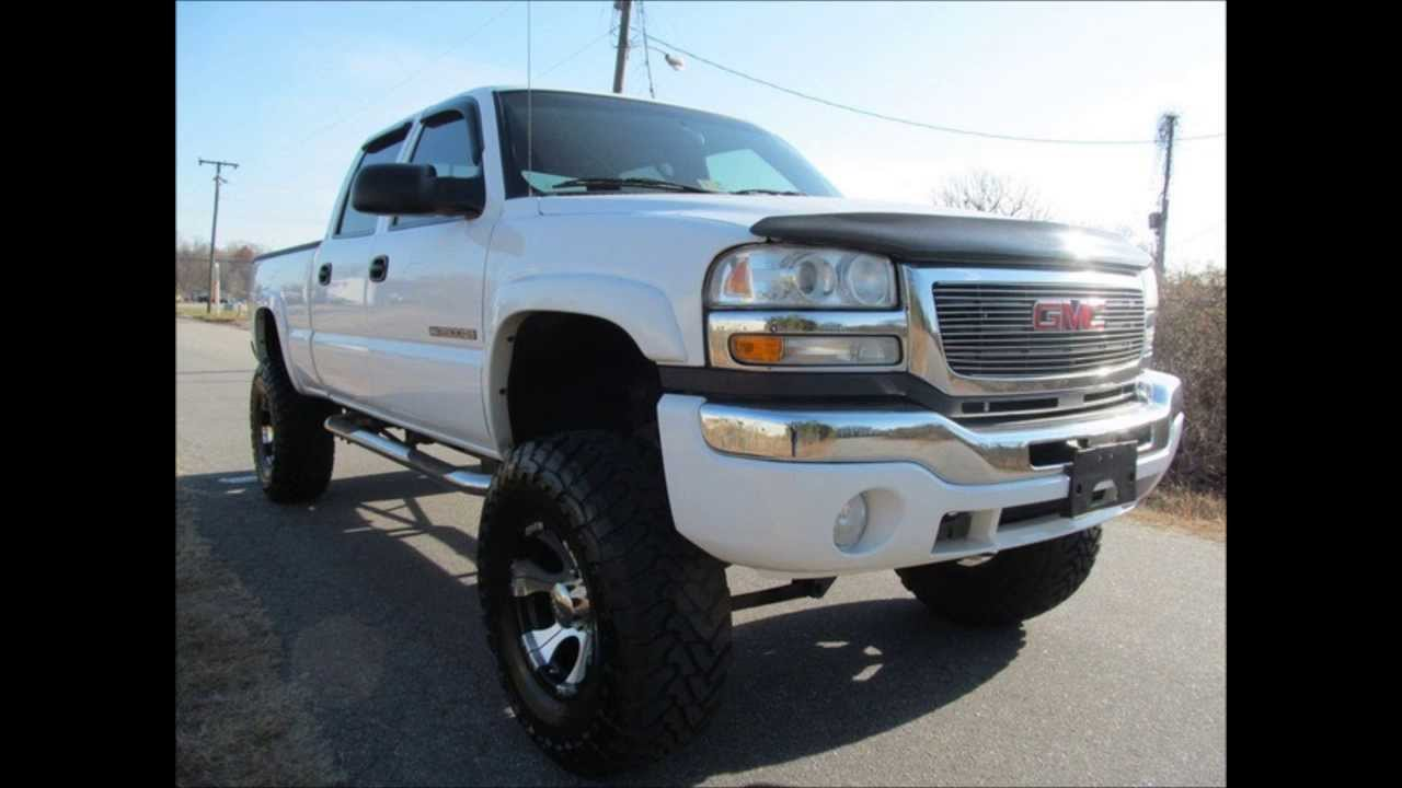 2003 gmc sierra 2500 sle lifted truck for sale youtube. Black Bedroom Furniture Sets. Home Design Ideas