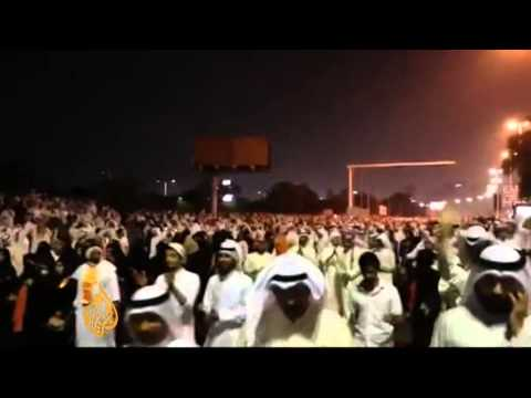 Police fire teargas and rubber bullets at opposition protesters in Kuwait