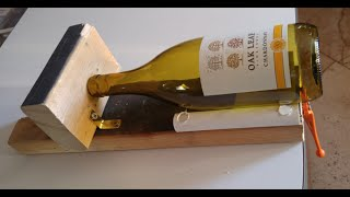 How to cut a glass bottle with a cheap, homemade bottle cutter