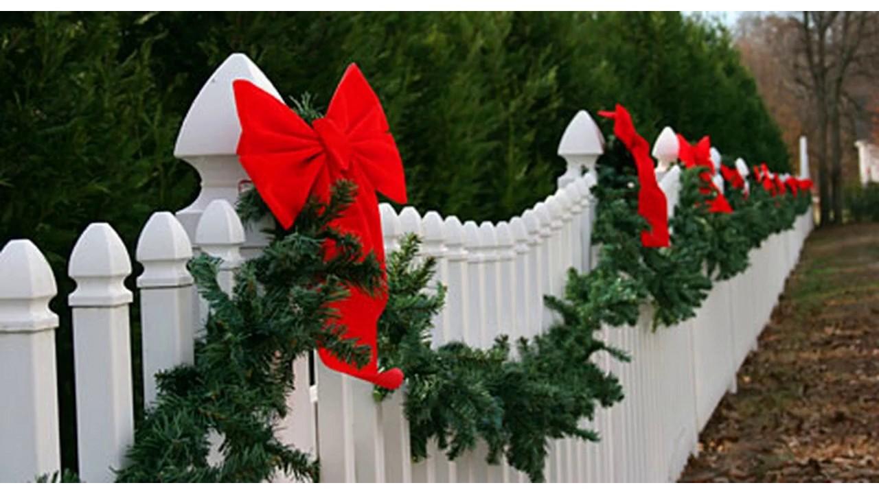 Ideas De Decoración De Patio De Navidad Youtube