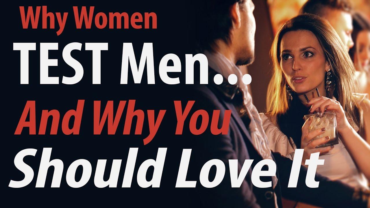 How do women test men