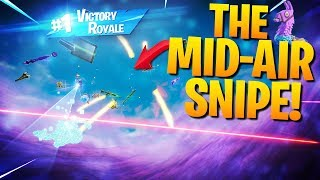 I Sniped Him Out Of The Air For The Win! (Fortnite Battle Royale)
