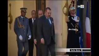 SM le Roi reçu à l'Elysée par le Président François Hollande