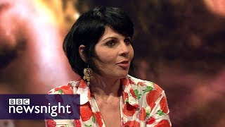 The Palestinian filmmaker issued a fatwa for her debut feature - BBC Newsnight