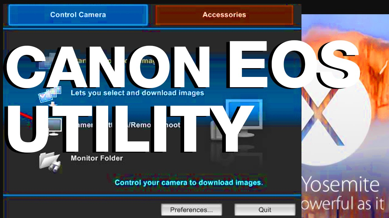 Canon software EOS Utility not working? here is how to fix