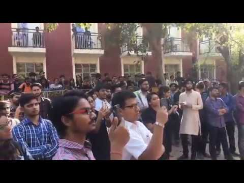 TINA DABI Interaction with students  AT  KIRORI MAL COLLEGE DELHI UNIVERSITY