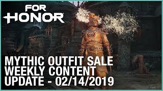 For Honor: Mythic Outfit Sale | Week 02/14/2019 | Weekly Content Update | Ubisoft [NA]