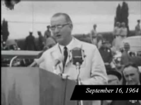 President Lyndon B. Johnson in Vancouver, Canada, September 16, 1964