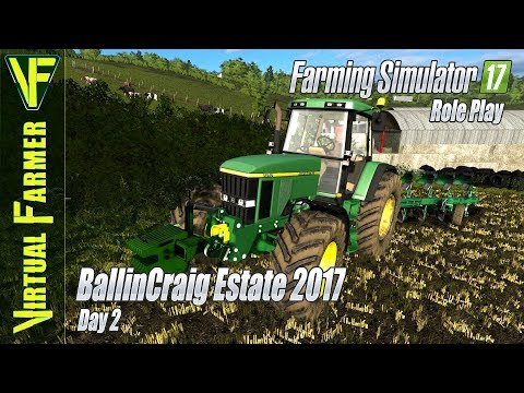 Ploughing and BIG NEWS! | BallinCraig Estate 2017, Day 2 | Farming Simulator 17 Role Play