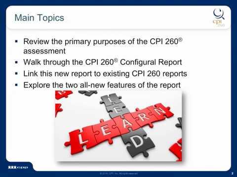 CPI 260® Configural Report Introduction - Leadership Development Tool