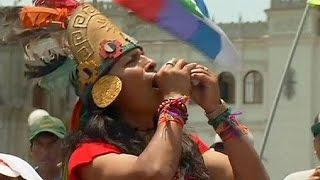 Peru'da 'iklim yürüyüşü'