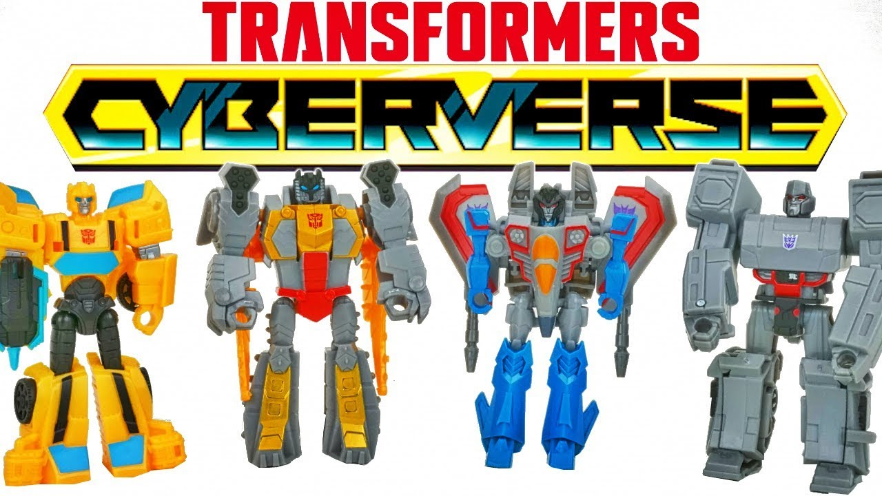 New Transformers Cyberverse Scout Class Action Attack Bee Starscream Grimlock And Megatron