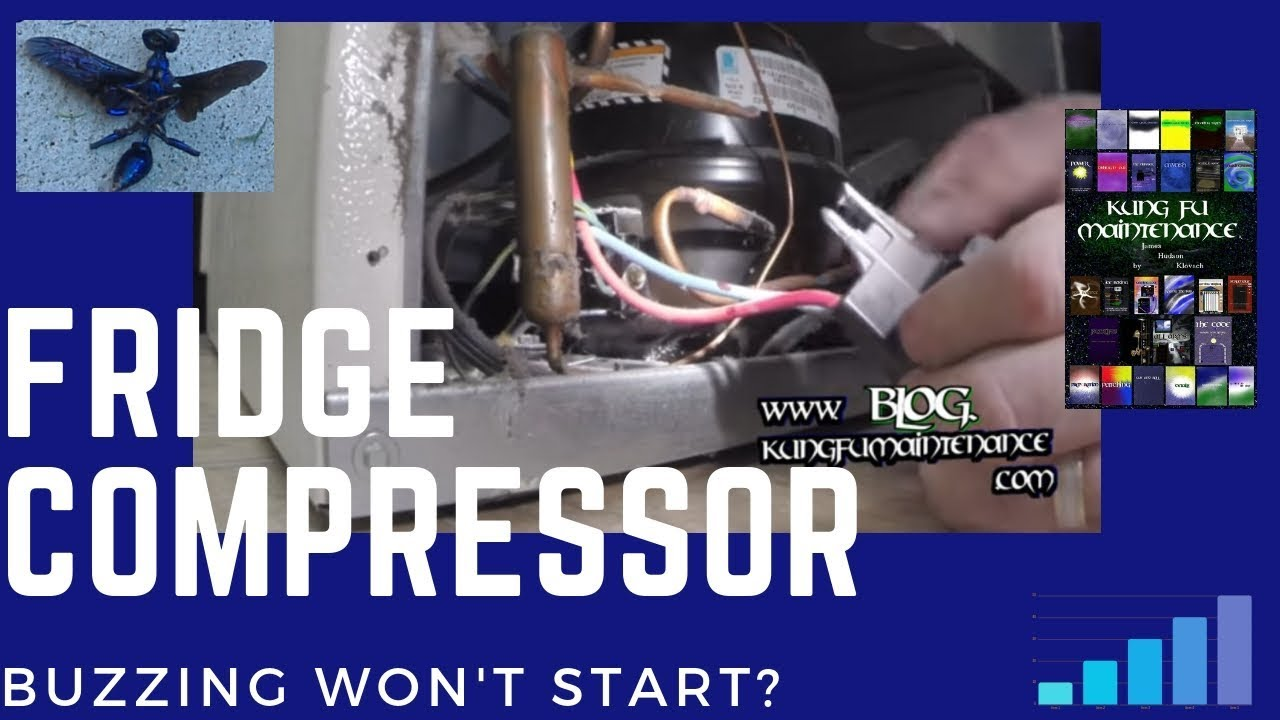 hight resolution of refrigerator compressor buzzing won t start fridge freezer stopped cooling repair video youtube