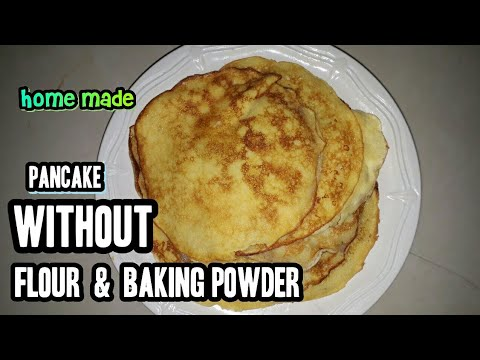 HOW TO MAKE HOTCAKE WITHOUT FLOUR & WITHOUT BAKING POWDER   DIY   STEP BY STEP