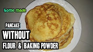 HOW TO MAKE HOTCAKE WITHOUT FLOUR & WITHOUT BAKING POWDER | STEP BY STEP