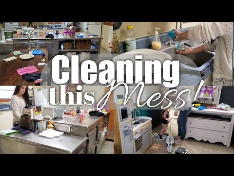 Realistic cleaning motivation | Actual Messy house clean with me!