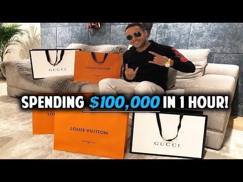 Spending $100,000 In 1 Hour At Harrods! (CRAZY)