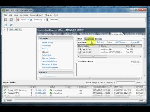 "ESXi5 Video 13 - Datastore Error (Call ""HostDatastoreSystem.QueryVmfsDatastoreCreateOptions"")"