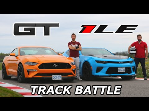 2019 Mustang GT PP2 vs Camaro SS 1LE – TRACK REVIEW // DRAG RACE & LAP TIMES