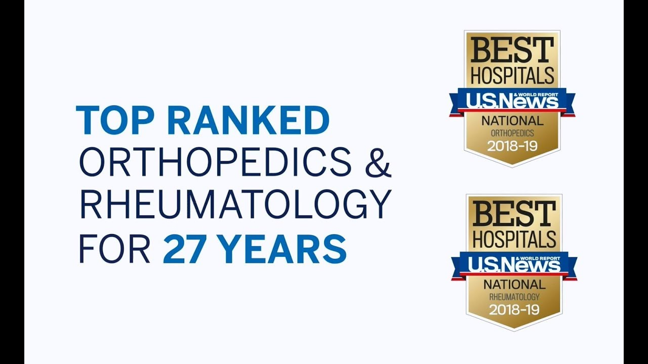 HSS Ranked No  1 in Orthopedics by U S News & World Report