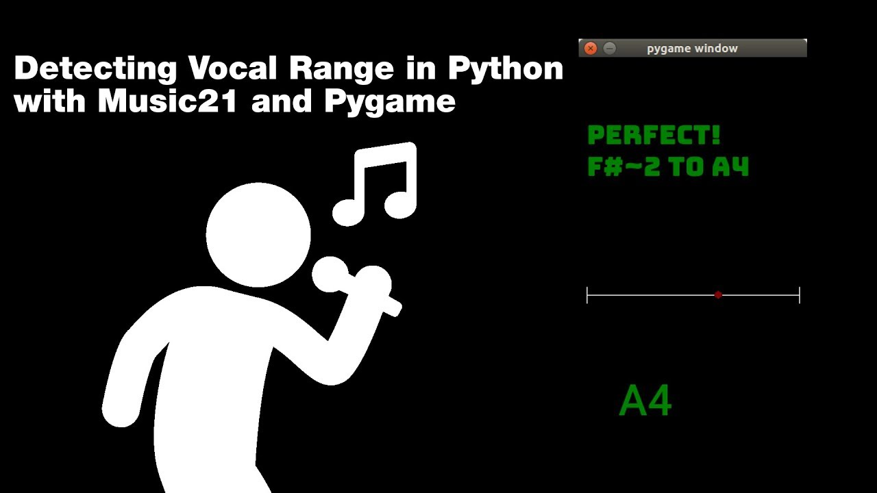 Vocal Range Detector in Python with Pygame and Music21