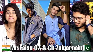 Indian Reaction On Ch Zulqarnain Vs Mr Faisu TikTok Videos   Pakistan Vs India Tik Tok.