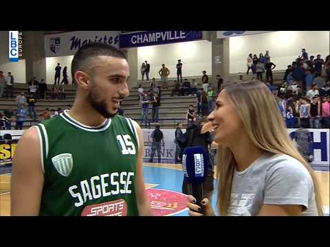 Alfa Basketball Championship - Champville v Sagesse - Post Game Ahmad Sbeity