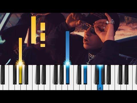 "Bad Bunny - Amorfoda - Piano Tutorial - Como tocar ""Amorfoda"""