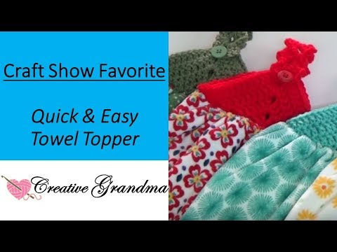 How To Crochet (Quick & Easy) Towel Topper! Free Pattern!