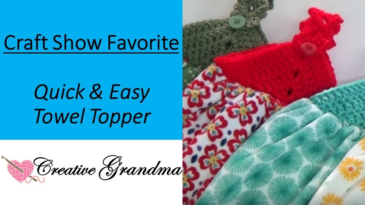 How To Crochet (Quick & Easy) Towel Topper! Free Pattern! - YouTube