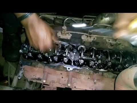 Ashok Leyland 1616 engine valve clearance adjustment - YouTube