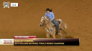 "Hailey Kinsel on ""Western Sports Weekly"""